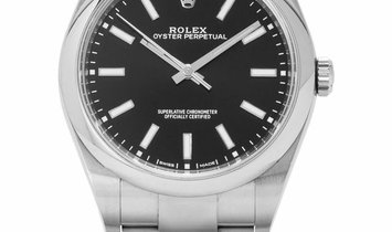 Rolex Oyster Perpetual 114300, Baton, 2019, Very Good, Case material Steel, Bracelet ma