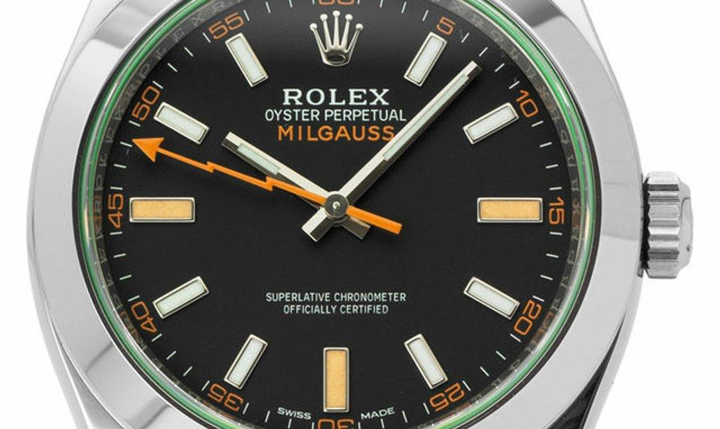 Rolex Milgauss 116400GV, Baton, 2020, Good, Case material Steel, Bracelet material: Ste