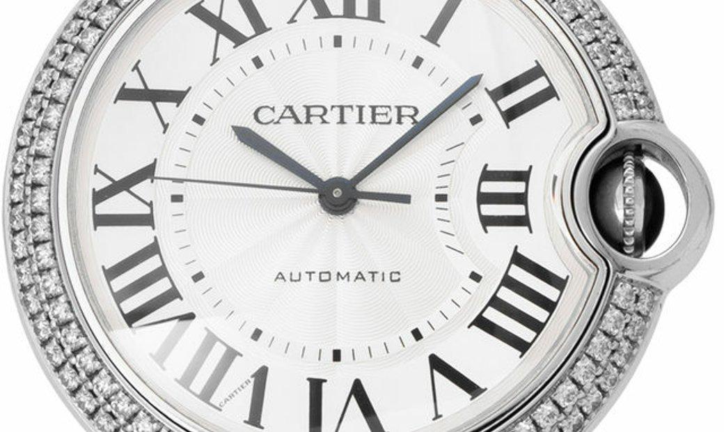 Cartier Ballon Bleu WE9006Z3 3004, Roman Numerals, 2012, Very Good, Case material White