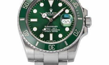 Rolex Submariner 116610LV, Baton, 2010, Good, Case material Steel, Bracelet material: S