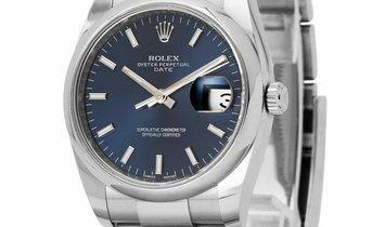 Rolex Oyster Perpetual Date 115200, Baton, 2016, Very Good, Case material Steel, Bracel