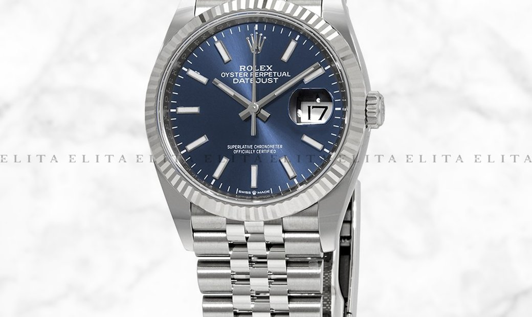 Rolex Datejust 36 126234-0017 Oystersteel and White Gold Blue Dial Jubilee Bracelet