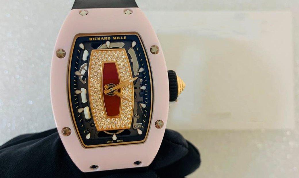 Richard Mille [2018 LIKE NEW] RM 07-01 Pink Ceramic Jasper Automatic Ladies