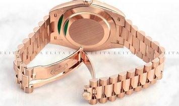 Rolex Day-Date 40 228345RBR-0002 18 CT Everose Gold Diamond Paved Dial, Diamond Bezel