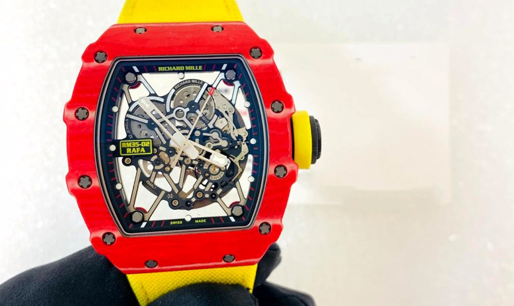 RICHARD MILLE [2017 MINT] RM 35-02 RED NTPT AUTOMATIC WATCH