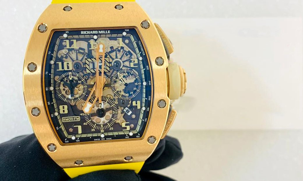 Richard Mille [2013 MINT] RM 011 Ivory Rose Gold Watch