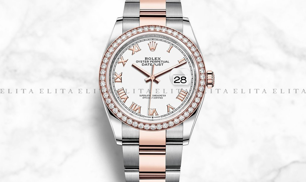 Rolex Datejust 36 126281RBR-0004 Oystersteel and Everose Gold White Dial Oyster Bracelet