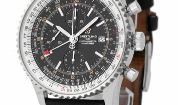 Breitling Navitimer 1 Chronograph GMT 46 A24322121B2X1, Baton, 2019, Very Good, Case ma