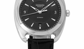 Hermes Dressage DR5.71A, Arabic Numerals, 2009, Very Good, Case material Steel, Bracele