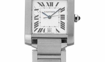 Cartier Tank Francaise W51002Q3 2302, Roman Numerals, 2004, Very Good, Case material St