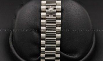 Rolex Day-Date 40 228239-0002 18 Ct White Gold Dark Rhodium Striped Motif Dial