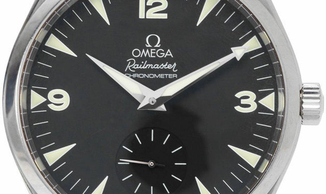 Omega Railmaster 2806.52.37, Arabic Numerals, 2009, Good, Case material Steel, Bracelet