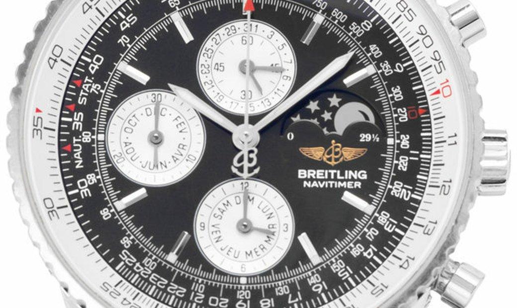Breitling Navitimer Annual Calendar  J19340, Baton, 2001, Good, Case material White Gol