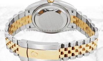 Rolex Datejust 36 126203-0023 Yellow Rolesor Diamond Set White Mother of Pearl Dial Jubilee Bracelet