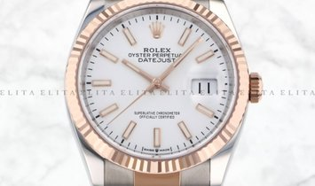 Rolex Datejust 36 126231-0018 Everose Gold and Oystersteel White Dial Oyster Bracelet