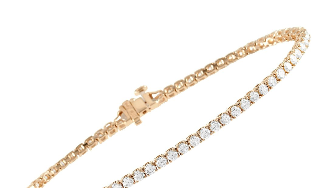 LB Exclusive LB Exclusive 14K Yellow Gold 2.94 ct Diamond Tennis Bracelet