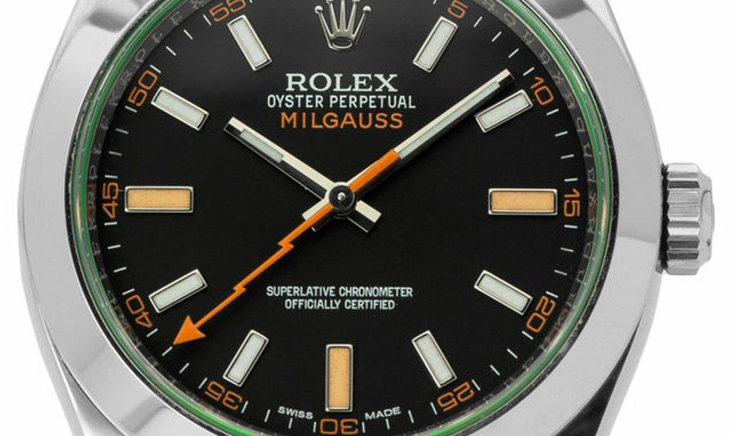 Rolex Milgauss 116400GV, Baton, 2019, Very Good, Case material Steel, Bracelet material