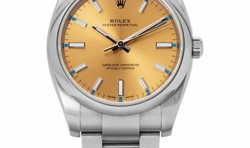 Rolex Oyster Perpetual 114200, Baton, 2019, Very Good, Case material Steel, Bracelet ma