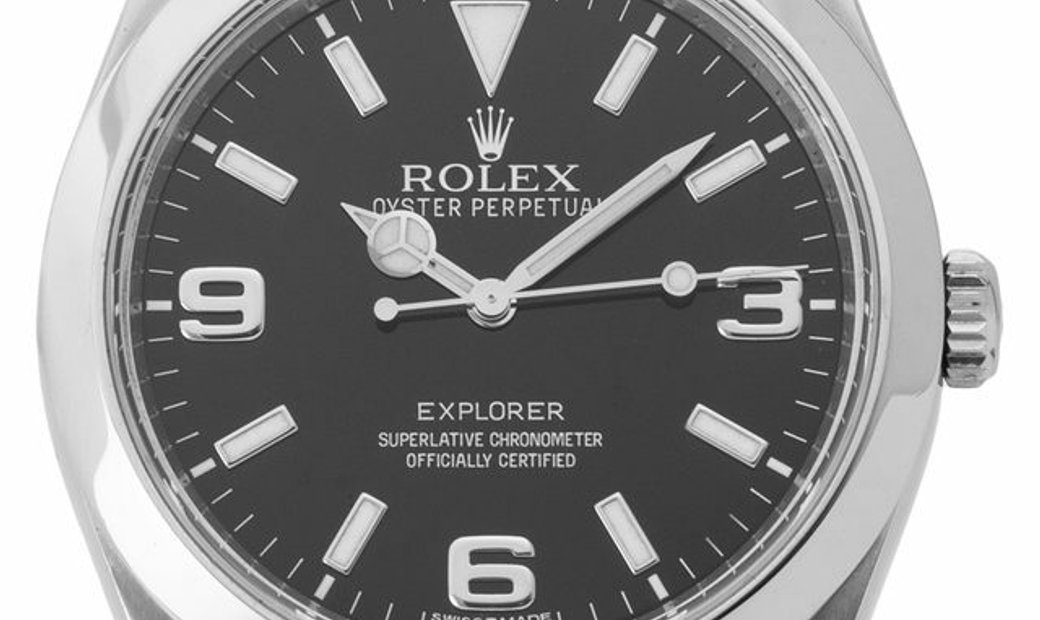 Rolex Explorer 214270, Arabic Numerals, 2013, Good, Case material Steel, Bracelet mater