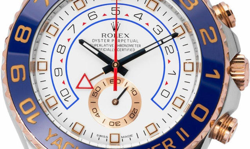 Rolex Yacht-Master II 116681, Baton, 2011, Very Good, Case material Steel, Bracelet mat