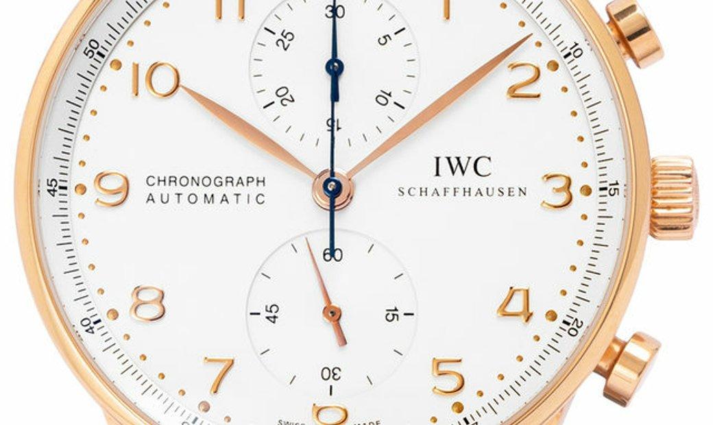 IWC Portugieser Chronograph IW371480, Arabic Numerals, 2011, Very Good, Case material R