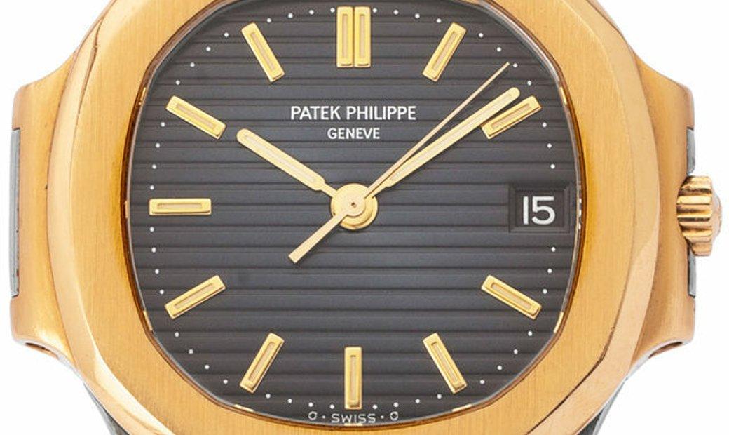 Patek Philippe Nautilus 3800/1, Baton, 1989, Good, Case material Yellow Gold, Bracelet