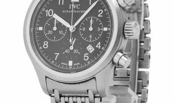 IWC Pilots Chronograph IW3741002, Arabic Numerals, 2006, Good, Case material Steel, Bra