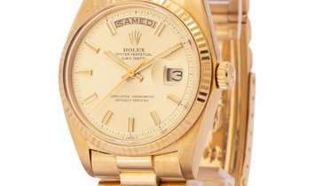 Rolex Day-Date 1806, Baton, 1972, Good, Case material Yellow Gold, Bracelet material: Y