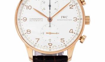 IWC Portugieser Chronograph IW371480, Arabic Numerals, 2017, Very Good, Case material R