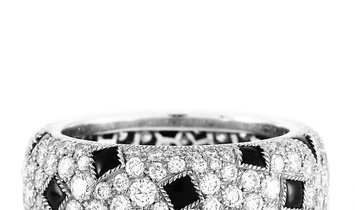Cartier Cartier Panthère Pelage 18K White Gold Diamond and Onyx Eternity Band