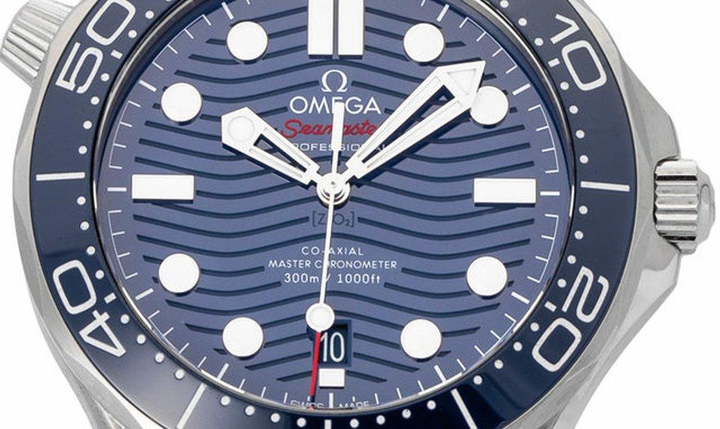 Omega Seamaster Diver 300 M 210.30.42.20.03.001, Baton, 2020, Very Good, Case material