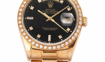 Rolex Day-Date 18238, Baton, 1989, Used, Case material Yellow Gold, Bracelet material: