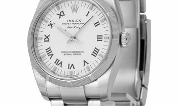 Rolex Air-King 114210, Roman Numerals, 2008, Good, Case material Steel, Bracelet materi