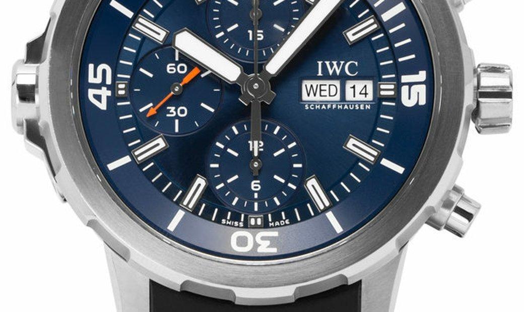 IWC Aquatimer Chronograph IW376805, Baton, 2018, Good, Case material Steel, Bracelet ma