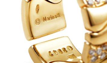 Marina B. Marina B. 18K Yellow Gold 0.60 ct Diamond Wave Band Ring