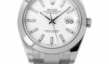 Rolex Datejust 126300, Baton, 2020, Unworn, Case material Steel, Bracelet material: Ste