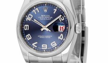Rolex Datejust 116200, Arabic Numerals, 2010, Very Good, Case material Steel, Bracelet