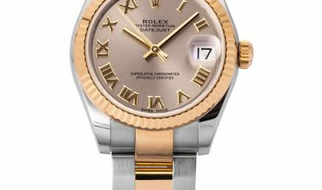 Rolex Lady-Datejust 178273, Roman Numerals, 2017, Very Good, Case material Steel, Brace