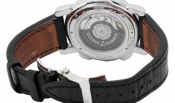 Ulysse Nardin Dual Time 243-55/91, Baton, 2014, Very Good, Case material Steel, Bracele