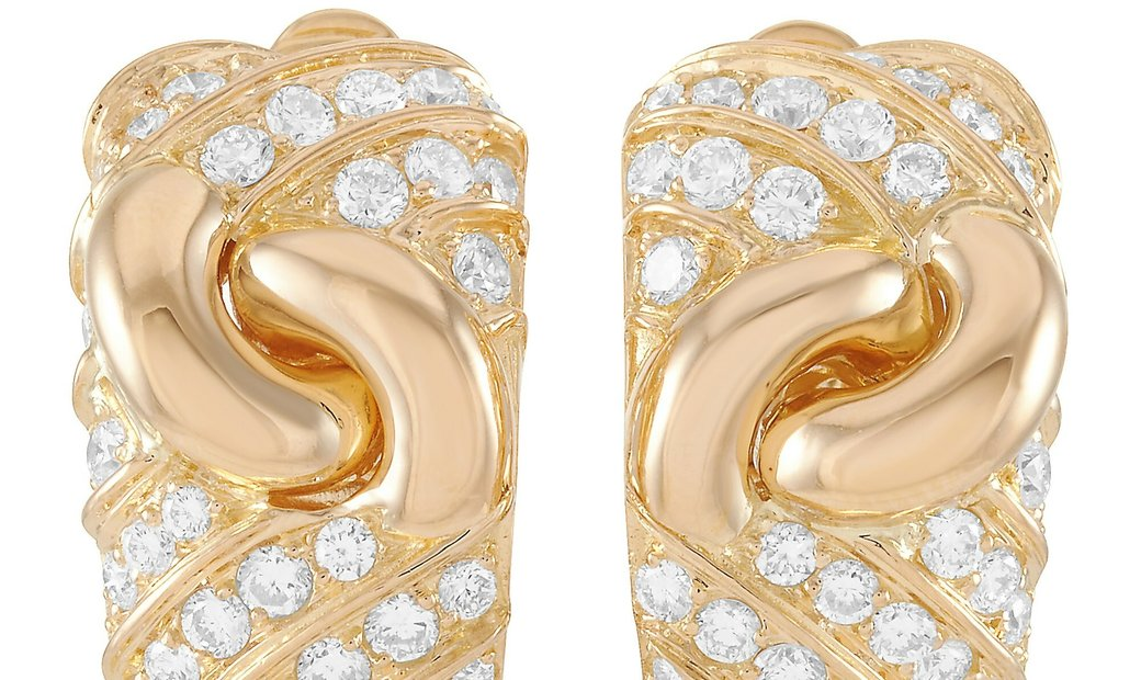 Bvlgari Bvlgari 18K Yellow Gold 3.00 ct Diamond Earrings