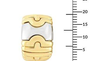 Bvlgari Bvlgari Alveare 18K Yellow Gold and Stainless Steel Earrings