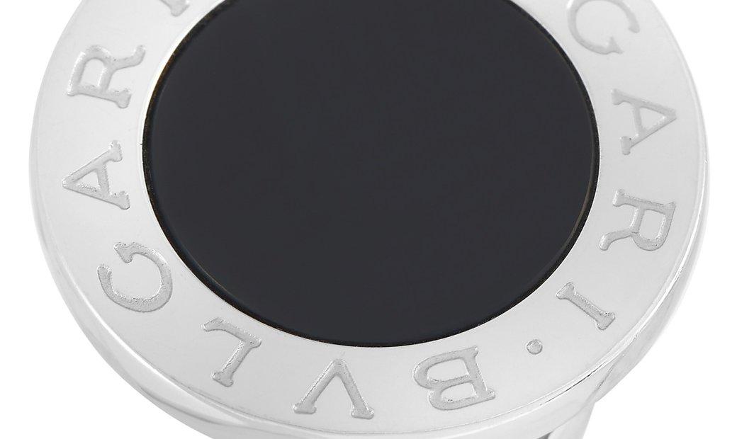 Bvlgari Bvlgari 18K White Gold Onyx Round Ring