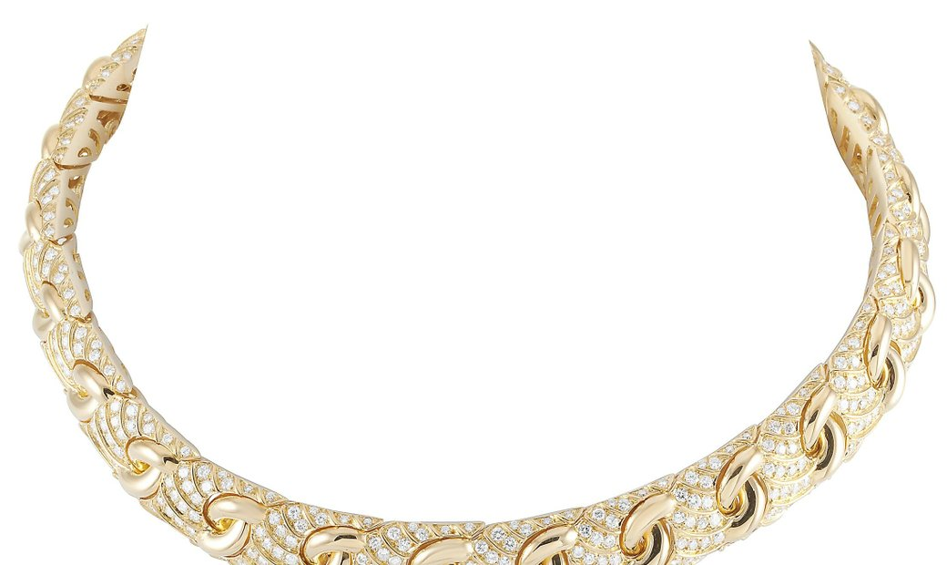 Bvlgari Bvlgari 18K Yellow Gold ~15.00 ct Diamond Necklace