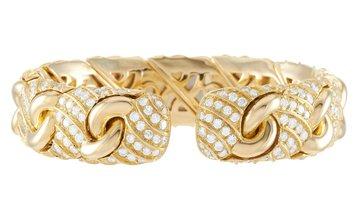 Bvlgari Bvlgari 18K Yellow Gold ~8.00 ct Diamond Bracelet