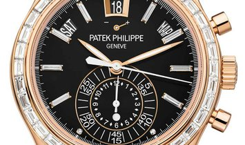 PATEK PHILIPPE COMPLICATIONS 40MM BLACK INDEX ROSE GOLD 5961R-010