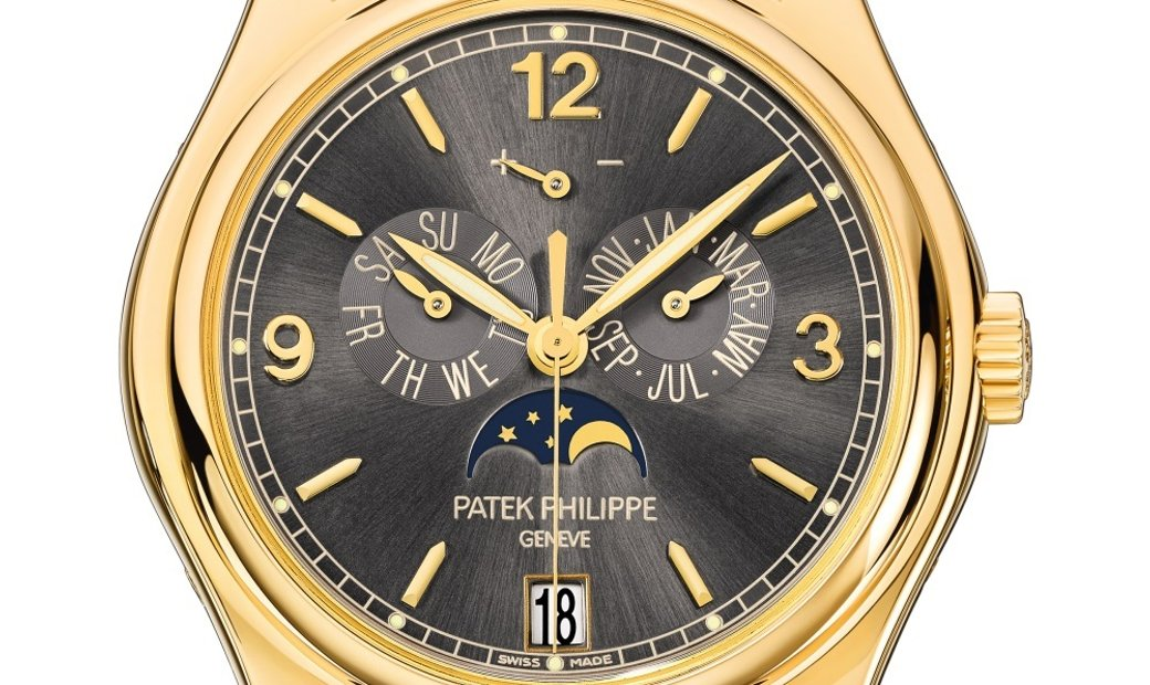 PATEK PHILIPPE COMPLICATIONS MOON PHASE GREY DIAL MEN'S WATCH Ref. 5146J-010