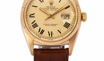 Rolex Day-Date 1803, Roman Numerals, 1972, Used, Case material Yellow Gold, Bracelet ma