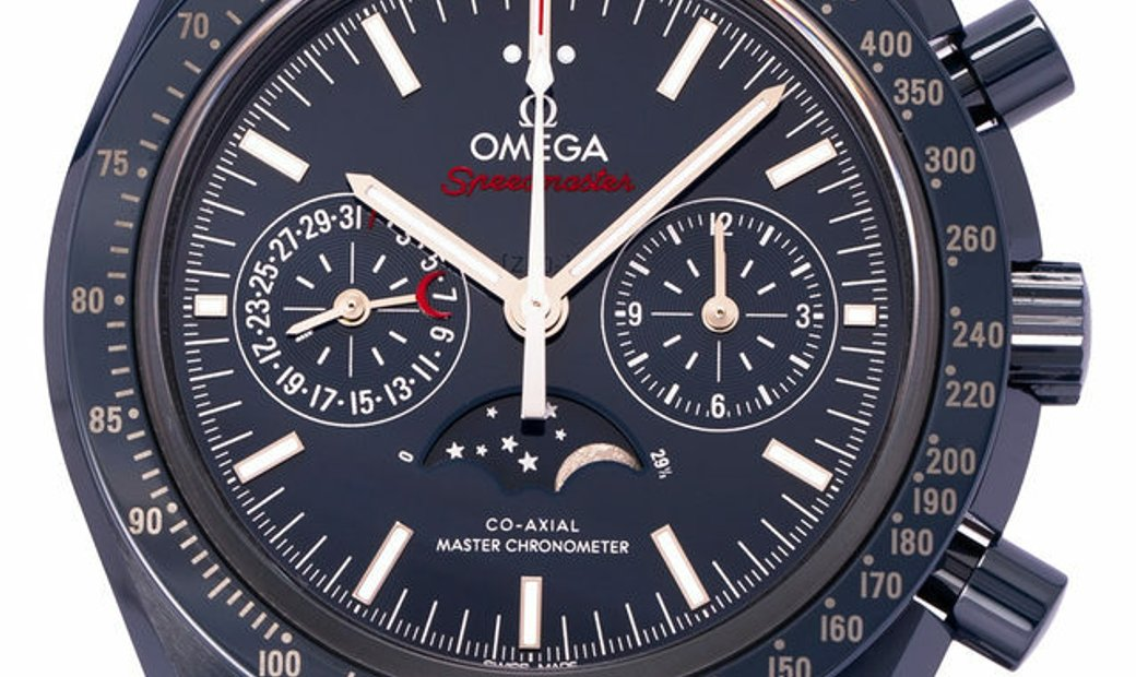 Omega Speedmaster Moonphase 304.93.44.52.03.001, Baton, 2020, Very Good, Case material
