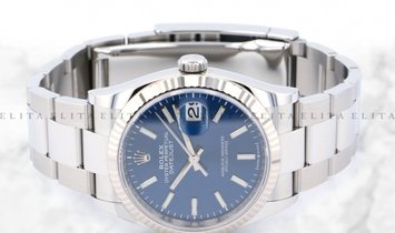 Rolex Datejust 36 126234-0018 Oystersteel and White Gold Blue Dial Oyster Bracelet