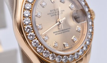Rolex Lady-Datejust Pearlmaster Yellow Gold